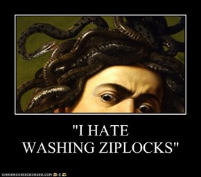 """I HATE WASHING ZIPLOCKS"""