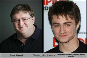Gabe Newell  Totally Looks Like Daniel Radcliffe plus 20 years and 80 pounds