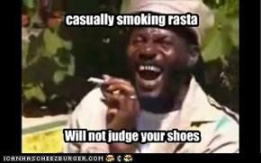 casually smoking rasta