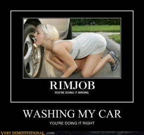 WASHING MY CAR