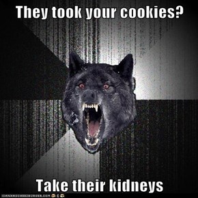 Animal Memes: Insanity Wolf - They Taste Better Anyway