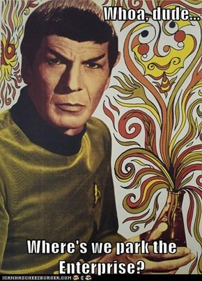Whoa, dude...  Where's we park the Enterprise?