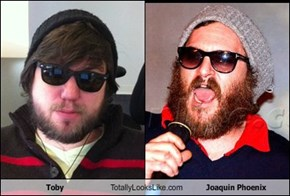 Toby Totally Looks Like Joaquin Phoenix