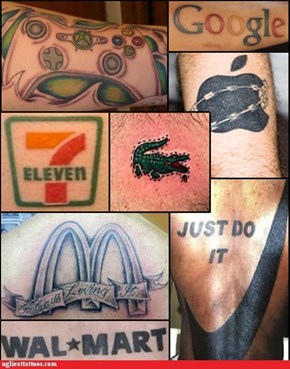 Corporate America Invades Your Tattoos