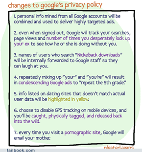 Changes to Google's Privacy Policy