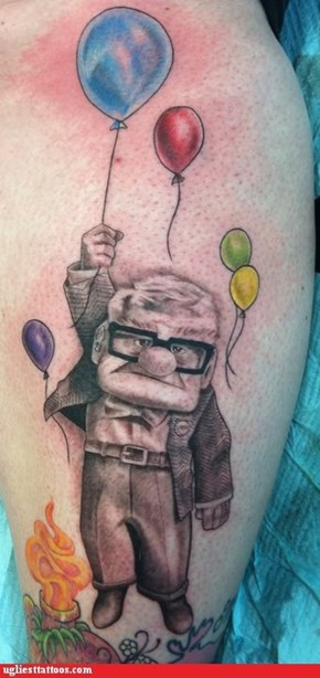 Ugliest Tattoos: Tattoo WIN: I don't know about you but the first 15 minutes of that movie had me in tears