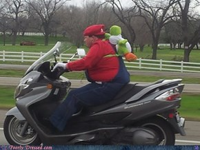 Shouldn't He Be Riding Yoshi?