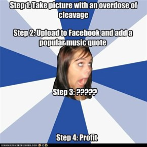 Annoying Facebook Girl takes a picture