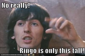 No really!  Ringo is only this tall!