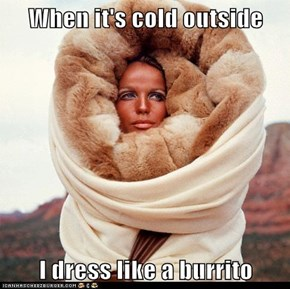 When it's cold outside  I dress like a burrito