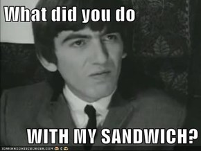 What did you do  WITH MY SANDWICH?