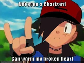 Not even a Charizard  Can warm my broken heart