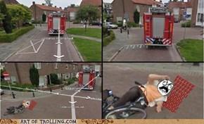 Scumbag Firetruck Wasn't Even Heading to an Emergency