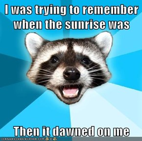 Lame Pun Coon's All Set for Next Time