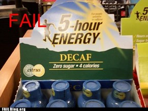5 Hour Energy FAIL.