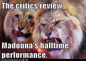 The critics review  Madonna's halftime performance.