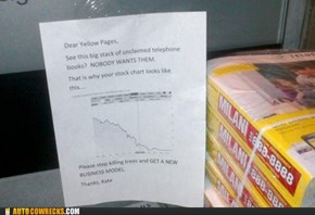 An Open Letter to the Yellow Pages