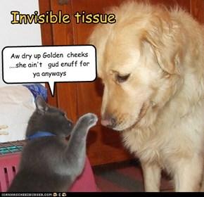 Invisible tissue