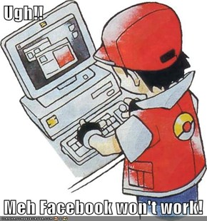Ugh!!  Meh Facebook won't work!