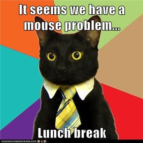 Animal Memes: Business Cat - And They Said There's No Such Thing as a Free Lunch