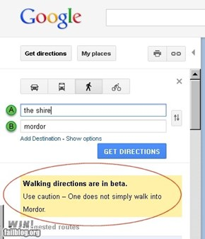 Best Google directions ever.