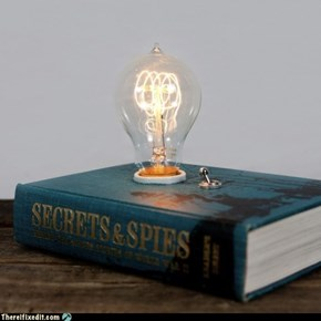 Show Off Your Skills: Make A Book Lamp