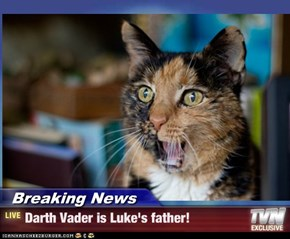 Breaking News - Darth Vader is Luke's father!