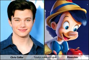 Chris Colfer Totally Looks Like Pinocchio