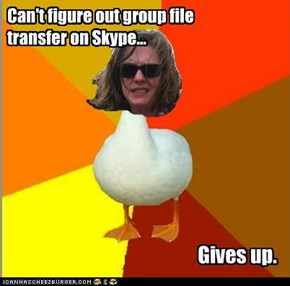 Can't figure out group file transfer on Skype...