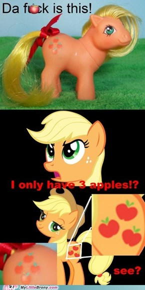 Applejack is mad now guys :(