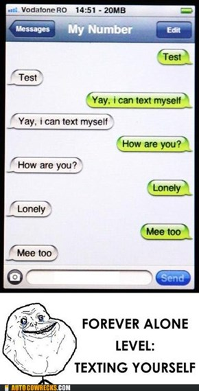 Once You've Reached Max Forever Alone Level...