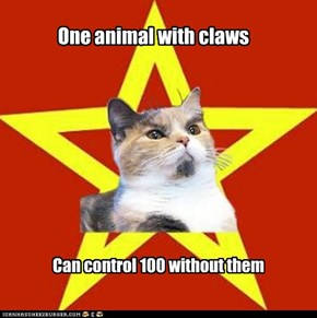 Lenin Cat: Claws Don't Kill People; Cats Do!