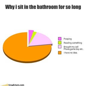 Why i sit in the bathroom for so long