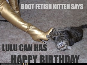 Boot f*tish Kitteh