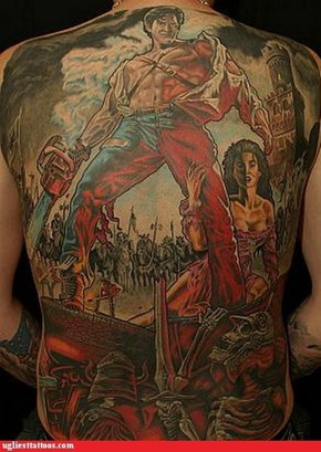 Tattoo WIN: The fact that they're remaking the Evil Dead makes me sad in a profound way