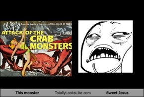 This Crab Monster Totally Looks Like Sweet Jesus Meme