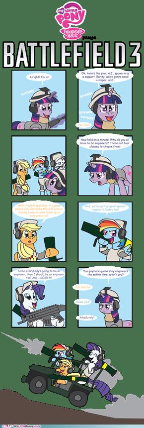 Ponies play BF3