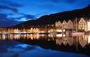 Wallpaper of the Day: Seaside Town, Norway