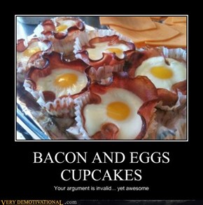 BACON AND EGGS CUPCAKES