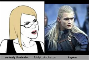 seriously blonde chic Totally Looks Like Legolas