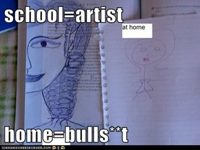school=artist  home=bulls**t