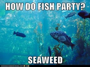 HOW DO FISH PARTY?  SEAWEED