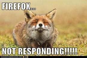 FIREFOX...  NOT RESPONDING!!!!!