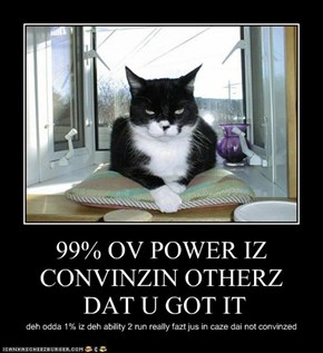 99% OV POWER IZ CONVINZIN OTHERZ DAT U GOT IT