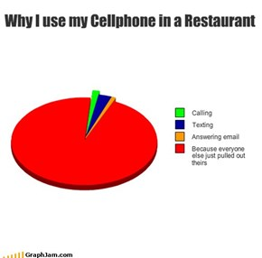 Why I use my Cellphone in a Restaurant