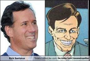 Rick Santorun Totally Looks Like the Smiler from Transmetropolitan