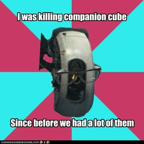 I was killing companion cube