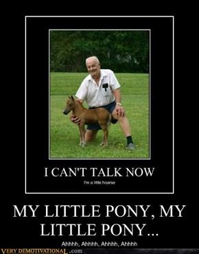 MY LITTLE PONY, MY LITTLE PONY...