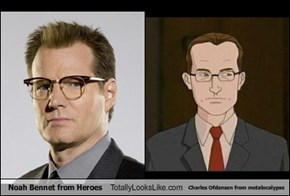 Noah Bennet from Heroes Totally Looks Like Charles Ofdensen from metalocalypse