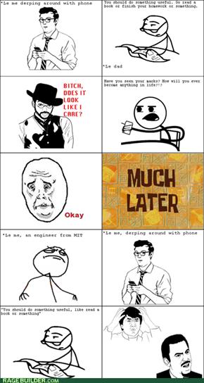 Dad says study